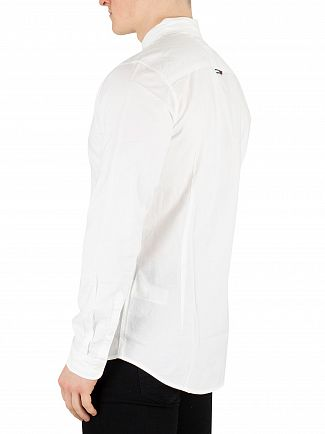 Tommy Jeans Classic White Stretch Oxford Slim Shirt