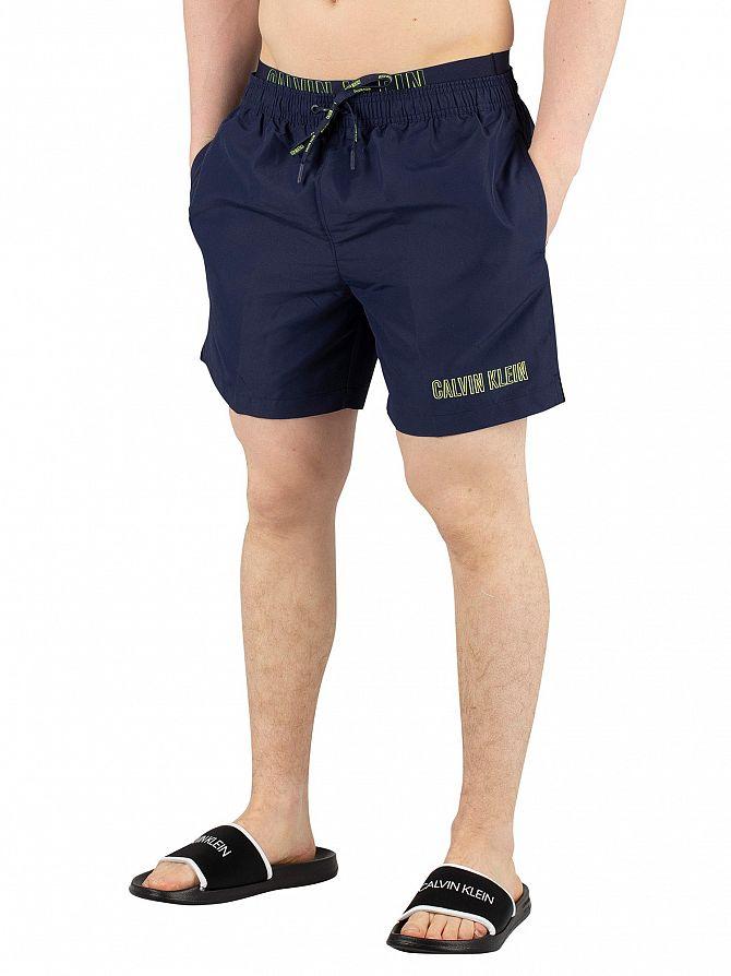 Calvin Klein Blue Shadow Medium Double Waistband Swim Shorts