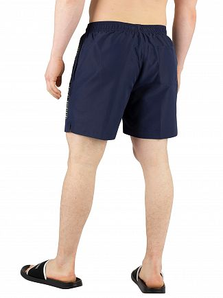 Calvin Klein Blue Shadow Medium Drawstring Swim Shorts