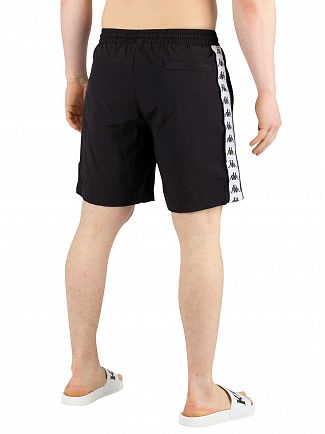 Kappa Black/White Authentic Buorg Swim Shorts