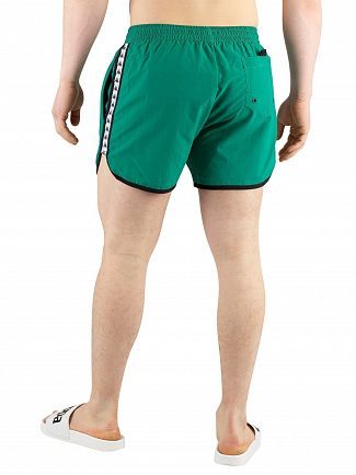 Kappa Green/White/Black Authentic Agius Swim Shorts