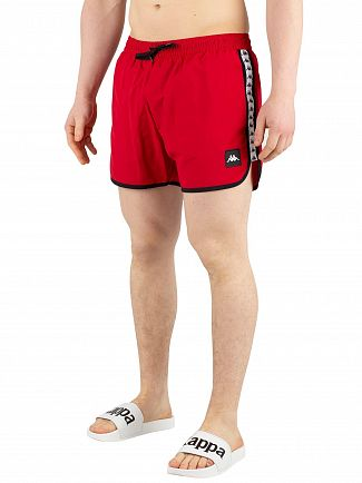 Kappa Red/White/Black Authentic Agius Swim Shorts