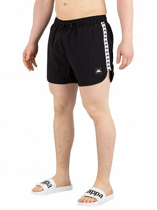 Kappa Black/White/Black Authentic Agius Swim Shorts