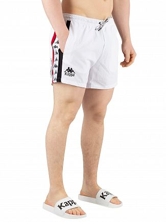 Kappa White/Red/Black Authentic Baten Swim Shorts