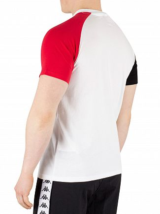 Kappa White/Red/Black Authentic Balant T-Shirt