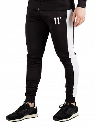 11 Degrees Black/White Poly Panel Joggers