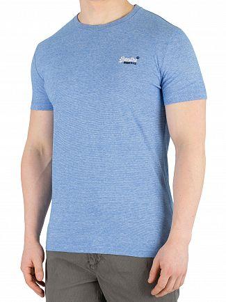 Superdry Royal Blue Feeder Orange Label Vintage Embroidery T-Shirt