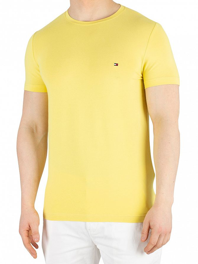 Tommy Hilfiger Yellow Cream Stretch Slim Fit T-Shirt