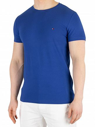 Tommy Hilfiger Blue Quartz Stretch Slim Fit T-Shirt