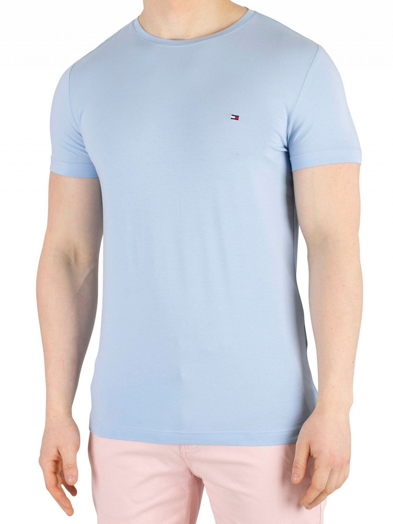 80f341db Tommy Hilfiger Chambray Blue Stretch Slim Fit T-Shirt. Tap to expand