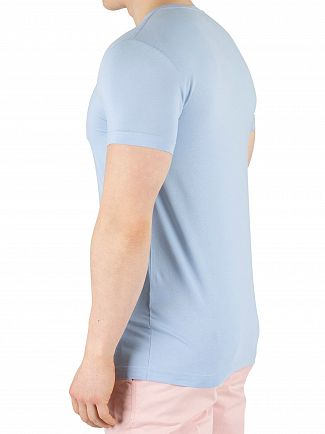 Tommy Hilfiger Chambray Blue Stretch Slim Fit T-Shirt