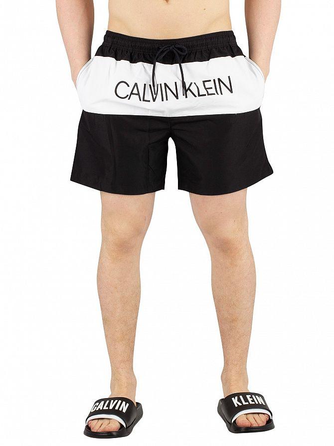 Calvin Klein Black Medium Drawstring Block Swim Shorts