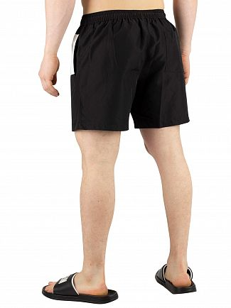 Calvin Klein Black Medium Drawstring Block Swim Shorts