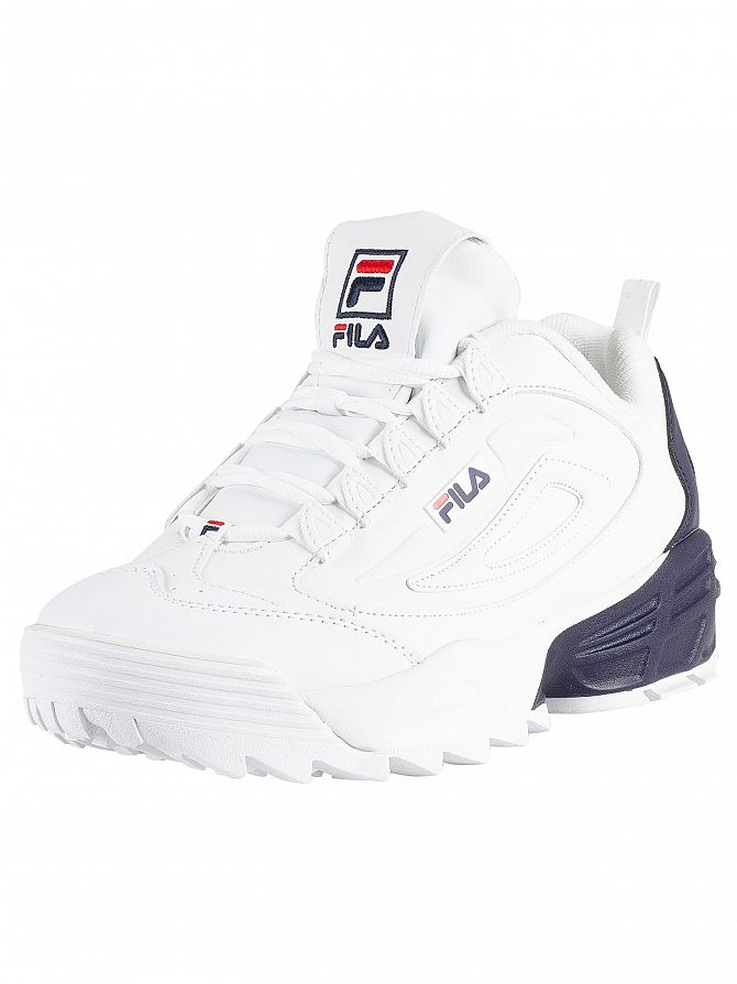Fila White/Navy/Red Disruptor 3 Trainers