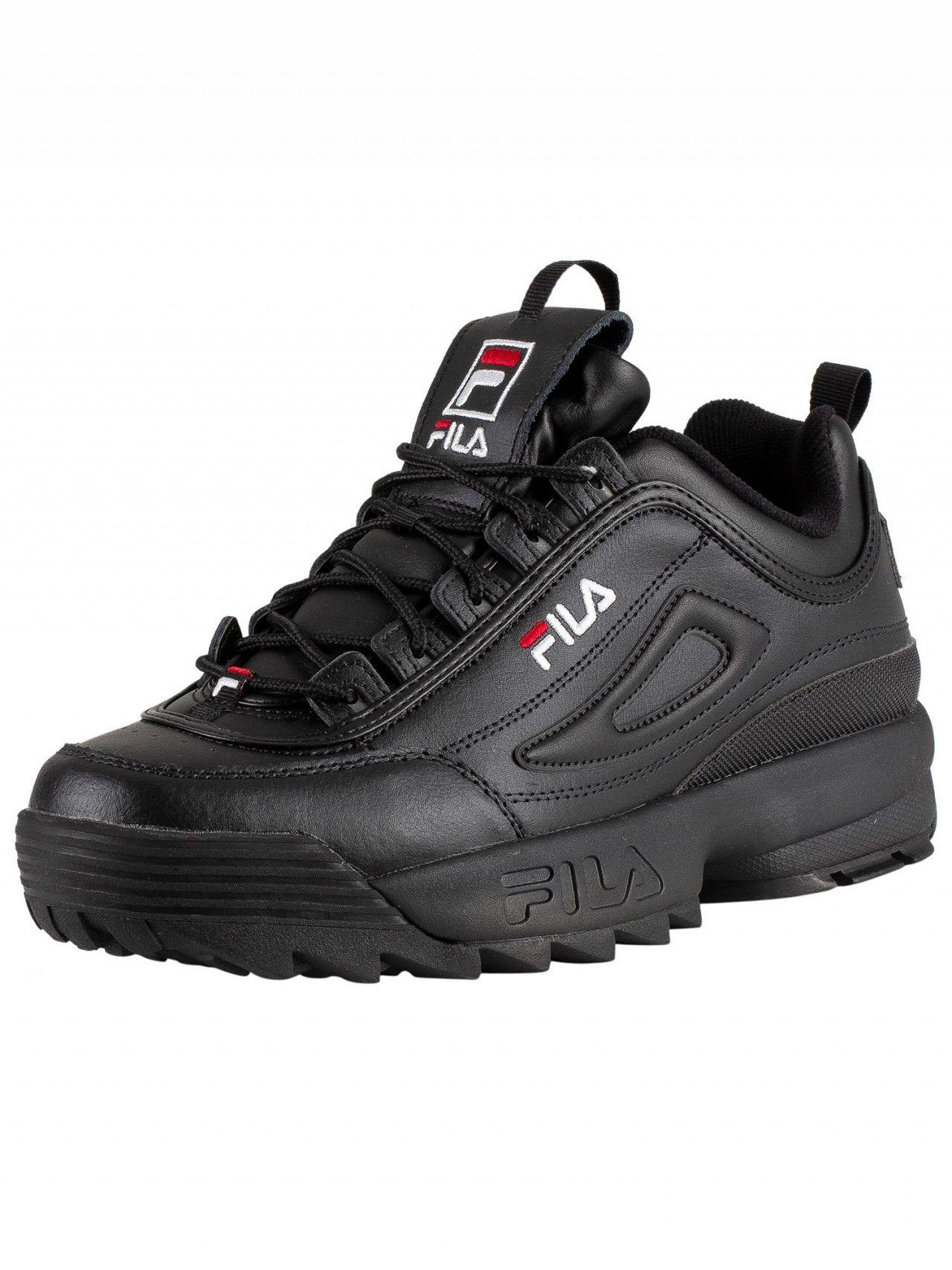 7936a6c7e3 Fila Black/White/Red Disruptor II Premium Trainers