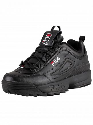 Fila Black/White/Red Disruptor II Premium Trainers