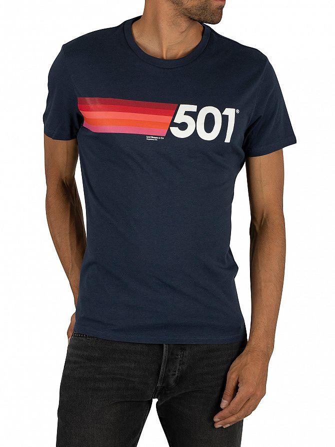 Levi's Dress Blue Graphic 501 T-Shirt