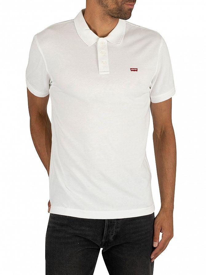 Levi's White Housemark Poloshirt