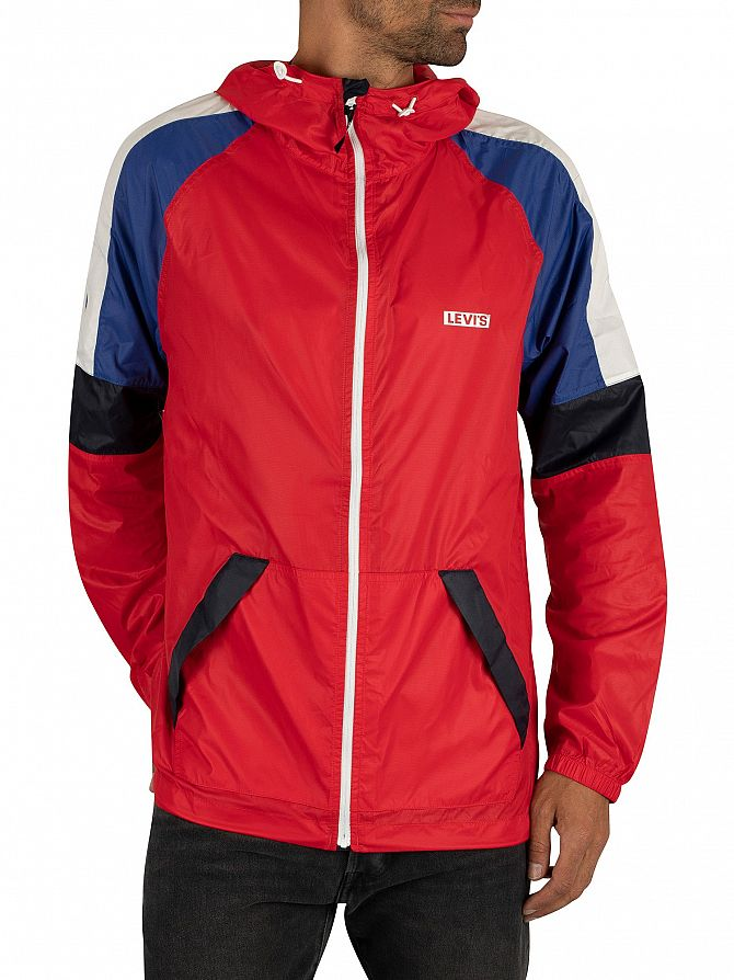 Levi's Chinese Red Colour Block Windrunner Jacket