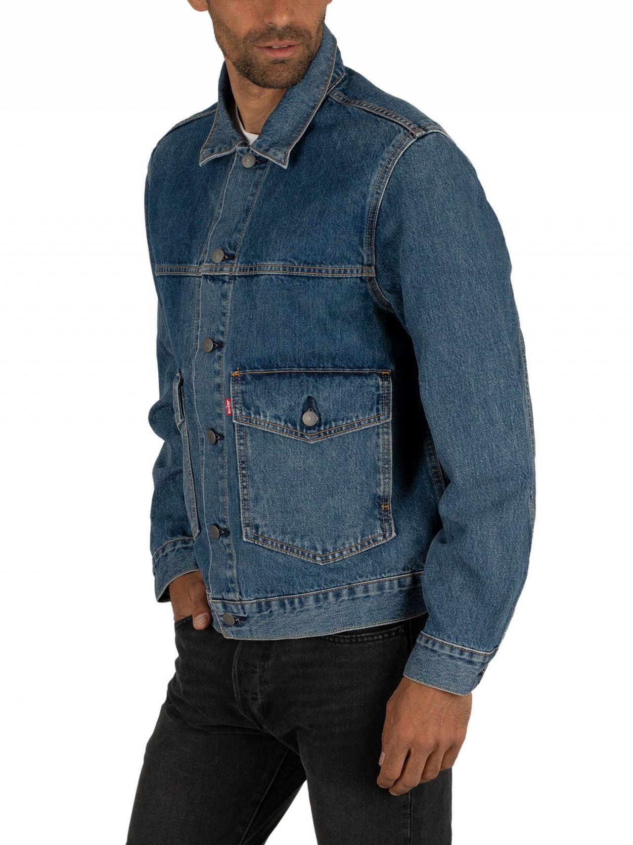 levi denim jacket patches