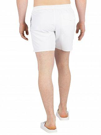 Emporio Armani White Logo Swimshorts