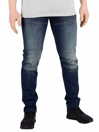 G-Star Aged Painted Ripped 5620 3D Slim Jeans