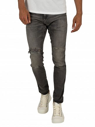 G-Star Eltro Black 5620 3D Zip Knee Skinny Jeans