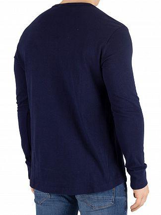 G-Star Sartho Blue Starkon Grandad Longsleeved T-Shirt