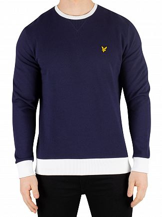 Lyle & Scott Navy Contrast Sweatshirt