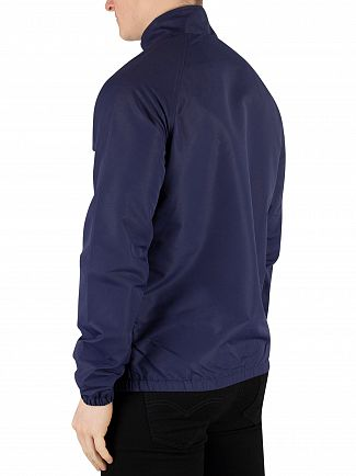 Lyle & Scott Navy Lightweight Funnel Neck Jacket