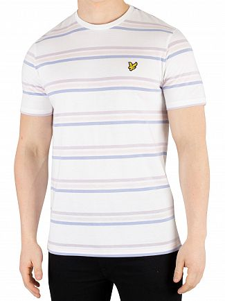 Lyle & Scott White Multi Stripe T-Shirt
