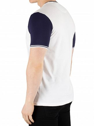 Lyle & Scott White/Navy Tipped T-Shirt