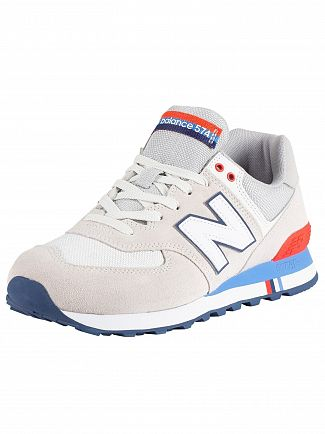 New Balance Beige 574 Suede Trainers