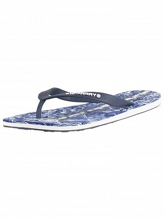 Superdry Dark Navy/Navy Marble/Optic White International Flip Flops