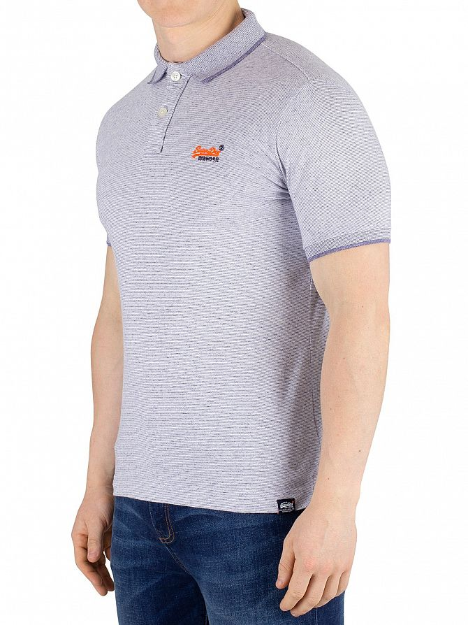 Superdry Optic Grit Feeder Orange Label Jersey Polo Shirt