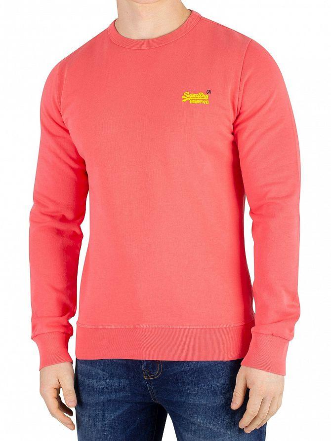 Superdry Duster Coral Orange Label Pastelline Sweatshirt