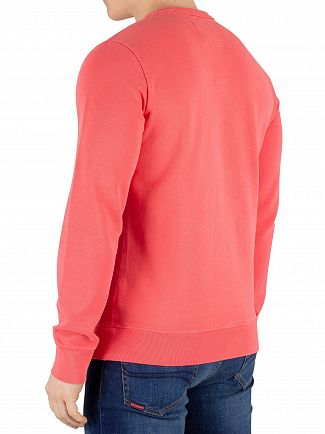 Superdry Duster Coral Orange Label Pastelline Sweatshirt