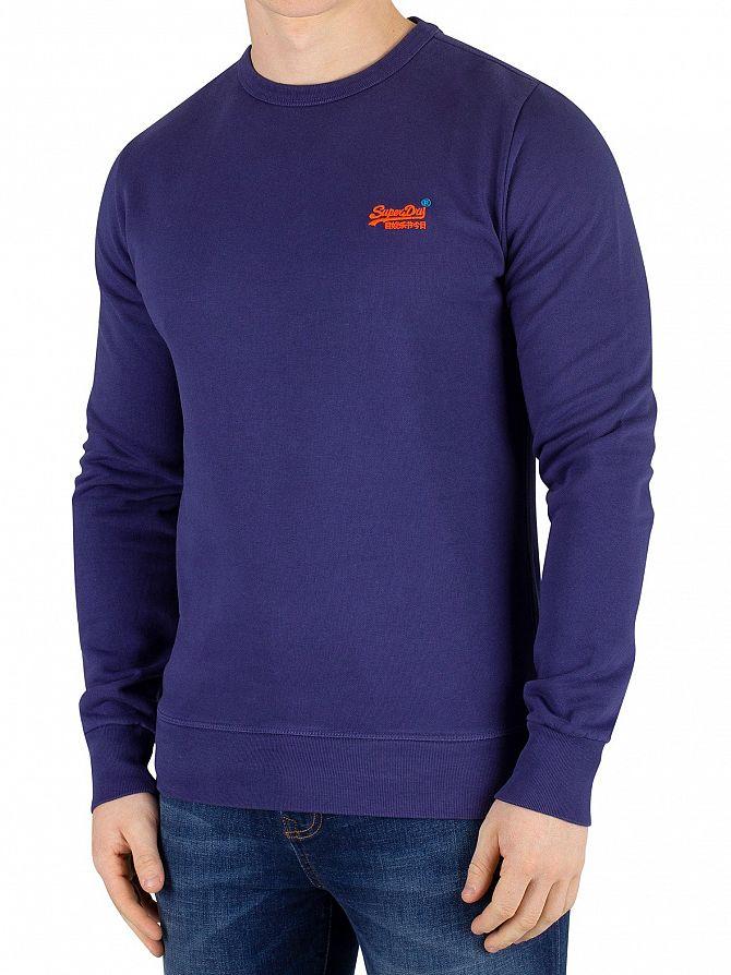 Superdry Beachwater Blue Orange Label Pastelline Sweatshirt