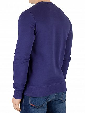 Superdry Beachwater Blue Orange Label Pastelline Sweatshirt