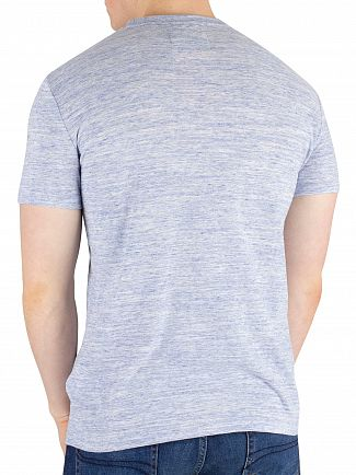 Superdry Milton Blue Marl Orange Label Vintage Embroidery T-Shirt