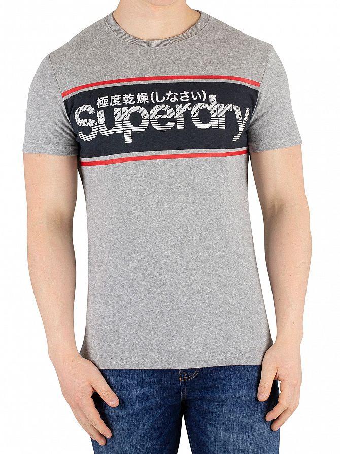 Superdry Grey Marl Retro Sport T-Shirt