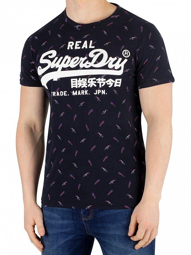 Superdry Eclipse Navy Vintage Logo Mid T-Shirt