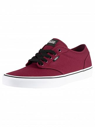 Vans Oxblood/White Atwood Canvas Trainers