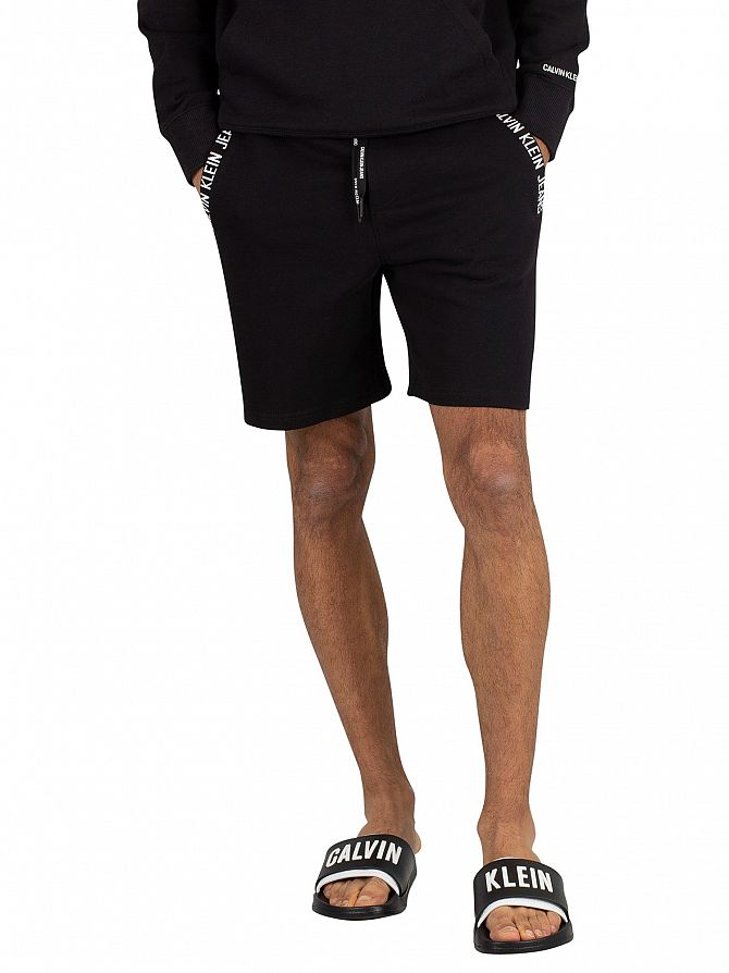 Calvin Klein Jeans Black Logo Sweat Shorts