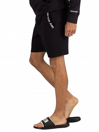 Calvin Klein Jeans Black Logo Sweat Shorts