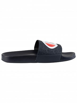 Champion Navy Multi Lido Sliders