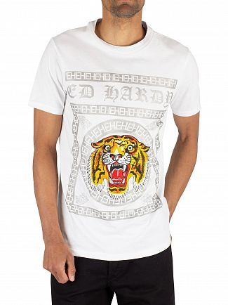 Ed Hardy White Tiger Tile T-Shirt