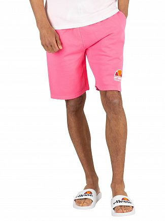 Ellesse Neon Pink Barbados Sweat Shorts