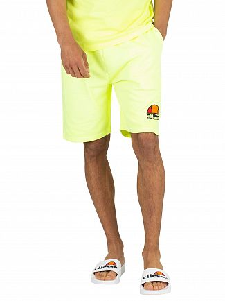 Ellesse Neon Yellow Barbados Sweat Shorts