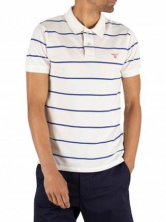 Gant Eggshell Contrast Stripe Pique Rugger Poloshirt